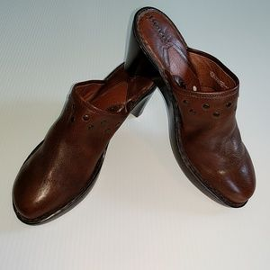Born Shoes - BORN Studded Leather Clogs Size 10
